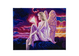 Angel Dusk, 40x50cm LED Crystal Art Kit