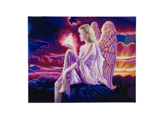 Angel Dusk, 40x50cm LED Crystal Art Kit