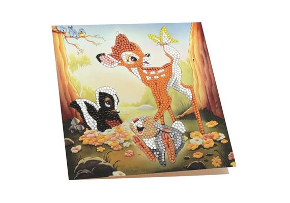 Bambi and Friends, 18x18cm Crystal Art Card