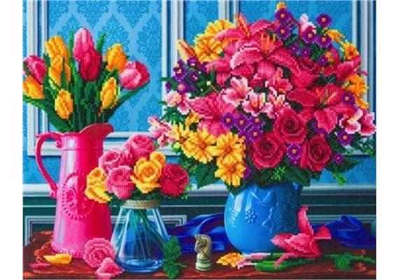 Beautiful Blooms, 40x50cm Crystal Art Kit