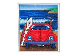 Beetle on the Beach, 21x25cm Picture Frame Crystal Art