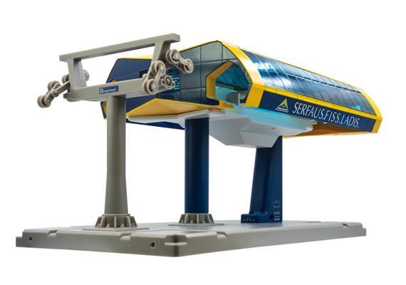 Bergstation ohne Motor gelb/blau