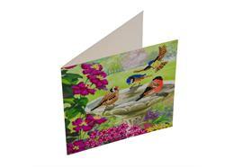 Birds, 18x18cm Crystal Art Card