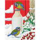 Birds Milkshake, 21x29cm Giant Crystal Art Card