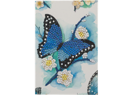Blue Butterfly, 10x15cm Crystal Art Card