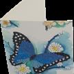 Blue Butterfly, 10x15cm Crystal Art Card | Bild 2