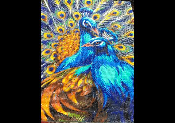 Blue Rhapsody Peacocks, 40x50cm Crystal Art Kit