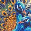 Blue Rhapsody Peacocks, 40x50cm Crystal Art Kit | Bild 2
