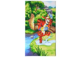 Bouncing Tigger, Crystal Art Triptych Part 1
