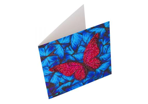 Butterfly, 18x18cm Crystal Art Card