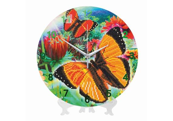 Butterfly, Crystal Art Clock