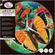Butterfly, Crystal Art Clock | Bild 4