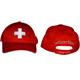 Cap rot mit CH Kreuz