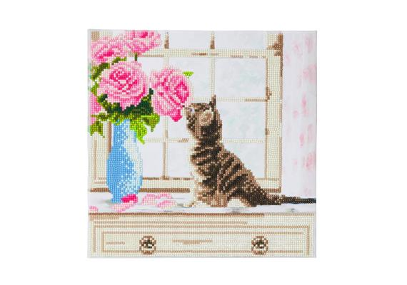 Cat, 30x30cm Crystal Art Kit