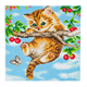 Cherry Kitten, 30x30cm Crystal Art Kit