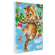 Cherry Kitten, 30x30cm Crystal Art Kit | Bild 2