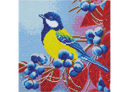 Christmas Bird, 30x30cm Crystal Art Kit