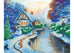 Christmas Evening, 40x50cm LED Crystal Art Kit THOMAS KINKADE