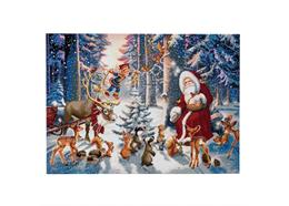 Christmas In The Forest, 90x65cm Crystal Art Kit