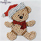 Christmas Teddy, 9x9xm Crystal Art Motif