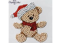 Christmas Teddy, 9x9xm Crystal Art Motif
