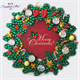 Christmas Wreath, 9x9xm Crystal Art Motif