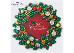 Christmas Wreath, 9x9xm Crystal Art Motif