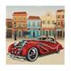 Classic Car, 18x18cm Crystal Art Card