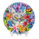 Clever Cat, Crystal Art Clock