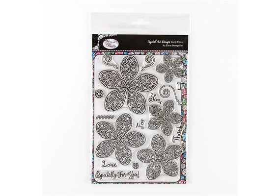 Curly Flora, Crystal Art A5 Stamp