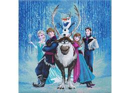 Die Eiskönigin - völlig unverfroren (Frozen), Bild 70x70cm Crystal Art Kit