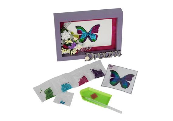 Disco Butterfly, 9x9cm Crystal Art Motif