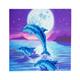 Dolphin Pod, 18x18cm Crystal Art Card
