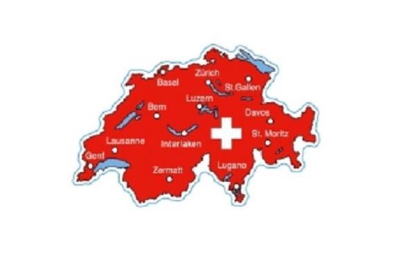"""Doppelpackung Magnete Schweiz, """"Schweizerseen und Touristenstädte"""", 60 mm"""
