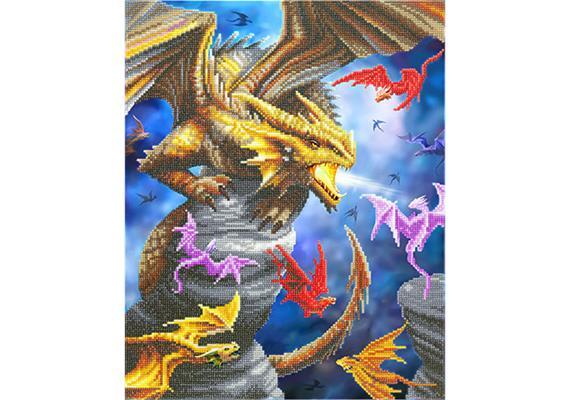 Dragon Clan, 40x50cm Crystal Art Kit ANNE STOKES