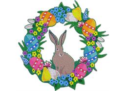 Easter 30cm Crystal Art Wreath