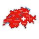 """Einzel Magnet Schweiz """"Schweizerseen und Touristenstädte"""", 60 mm"""