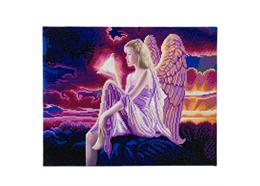 Engel Dämmerung, Bild 40x50cm LED Crystal Art Kit