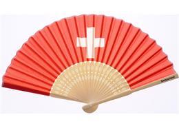 Fächer Schweiz rot, mit CH Kreuz