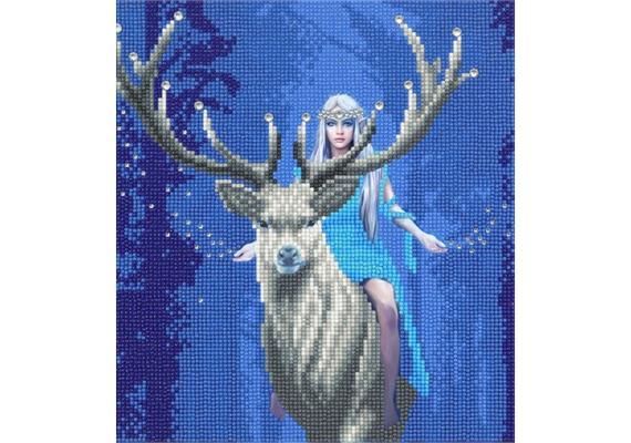 Fantasy Forest, 30x30cm Crystal Art Kit ANNE STOKES
