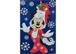 Festive Minnie, 10x15cm Crystal Art Card