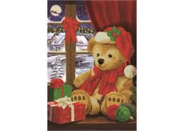 Festive Teddy, Crystal Art Notebook