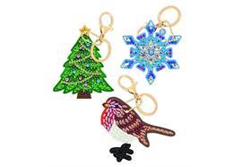 Festliche Freude Crystal Art Schlüsselanhänger 3 Stück