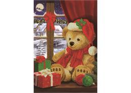 Festlicher Teddy, Crystal Art Notizbuch