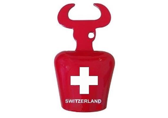 Flaschenöffner Glocke mit CH Kreuz Stier