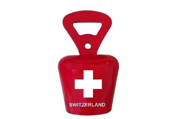 Flaschenöffner Glocke mit CH Kreuz