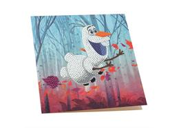 Floating Olaf, 18x18cm Crystal Art Card
