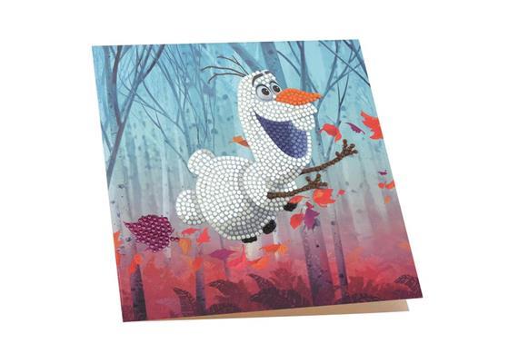 Floating Olaf, 18x18cm Crystal Art Card