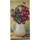 Flower Vase, 11x22cm Crystal Art Card