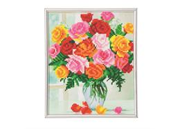 Flowers, 21x25cm Picture Frame Crystal Art